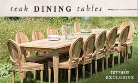 hardware dining table exclusive: teak dining tables terrain exclusive  navslots outdoor teak dining tables terrain exclusive