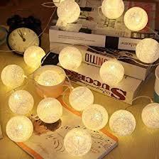20LEDs Wool <b>Balls</b> Fairy <b>Lights</b> - ELINKUME LED Cotton <b>Balls</b> ...