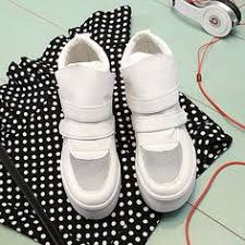 Silver Sequined Women <b>Sneakers</b> Plus Size Genuine Leather White ...