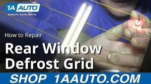 How To <b>Repair</b> a Rear Window Defrost <b>Grid</b> Panel - YouTube