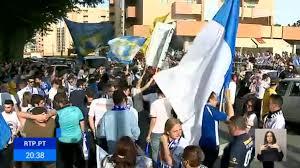 Festejos em Vila Nova de Famalicão com o regresso à I Liga