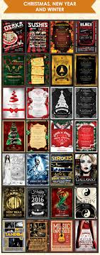 flyer templates for events christmas new year  christmas new year winter