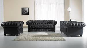 paris 2 modern black leather sofa set black leather sofa
