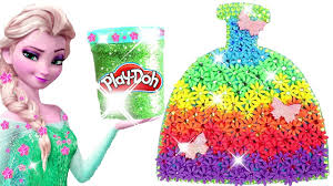 Learn Colors Play Doh Making Colorful Sparkle Disney <b>Princess</b> ...