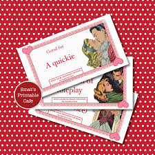 naughty love coupons printable valentine s day gift 128270zoom