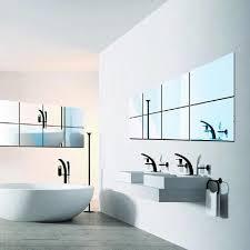 <b>16 Pcs</b> Square Decorative <b>Mirrors</b> Self-adhesive Tiles <b>Mirror</b> Wall ...