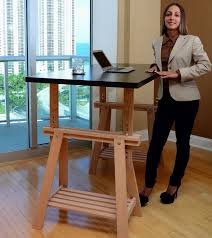 diy home office desk hack an ikea trestle into an adjustable standing desk aspera 10 executive office nappa leather brown