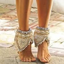 Beaded <b>cowrie shell ankle</b> cuffs. Gold Ordon | Adorned | <b>Anklets</b> ...