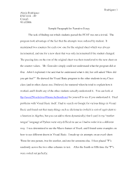 narrative essay example alisen berde narrative essay example