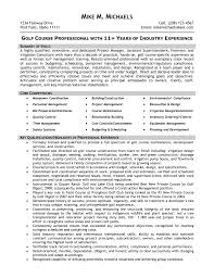 golf course superintendent resume examples resume examples  resume superintendent resume templates building superintendent