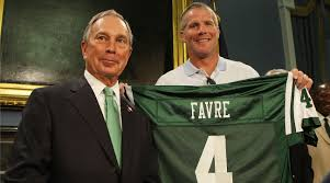 brett favre stories from career green bay packers the mmqb new york and or michael bloomberg embraced favre but his tenure the jets lasted for only one season