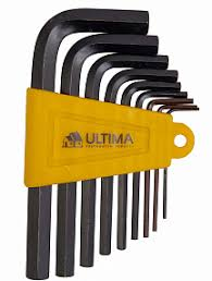 <b>Набор ключей имбусовых</b> Ultima HEX, 1,5–10 мм, CrV, 9 шт., окид ...