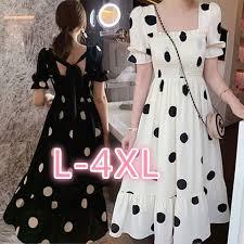 <b>L</b>-<b>4XL plus size</b> ruffled long maxi dress <b>women's</b> polka dot long ...