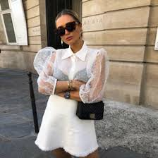 White Sheer Button Blouse UK