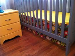 how to make a simple crib skirt the adventures of ernie bufflo note the skirt will not graze the floor when mattress is raised to the highest newborn position but should fit nicely for all of the various mattress