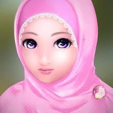 Image result for karikatur ibu muslimah cantik