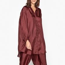 <b>Рубашка</b> шёлковая в полоску кирпичный Mes Demoiselles | <b>La</b> ...