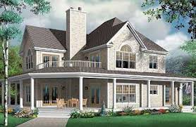 Full family House Plans   Bedrooms from DrummondHousePlans comThe Heritage bedroom country house plan   car garage and wrap aound