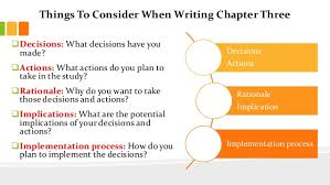 Things To Consider When Writing Chapter Three