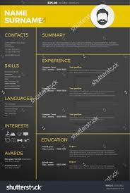 modern cv resume template stock vector shutterstock modern cv resume template