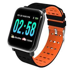 <b>Умный</b> фитнес браслет <b>ZDK A6</b> (оранжевый) по цене 1390 руб ...