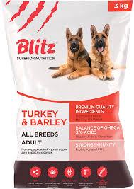 <b>Сухой корм Blitz</b> Adult Turkey & Barley – купить в интернет ...