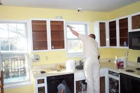refinishing painting kitchen cabinets