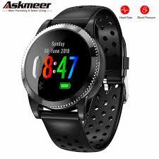 ASKMEER <b>L16 Smart Watch</b> Heart Rate Blood Pressure Waterproof ...