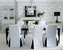 Image Of Dining Room Chair Covers Clear  W
