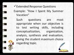 restricted response essay questions scoring for restricted response essay questions