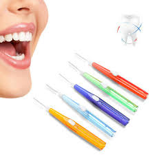 toothbrush interdental push pull gum tooth brush orthodontic wire oral care tool adult 10pcs bag