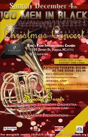 christmas concert flyer men in black
