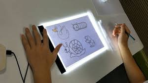 A4 <b>LED</b> Graphics Tablet Drawing Board <b>3 Gears Dimmable</b> Painting ...