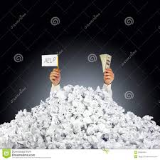 buried under paper work stock photos images pictures images help me person under crumpled pile of papers stock photos