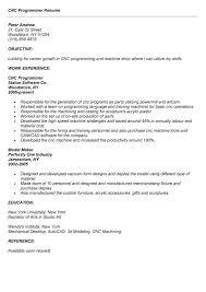cnc programmer resume example free resume sample cnc programmer resume