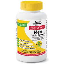 Super Nutrition, <b>SimplyOne</b>, Men, <b>Triple Power</b> Multivitamins, 90 ...