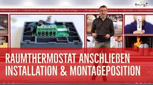 Raumthermostat anschließen / Thermostat montieren - YouTube
