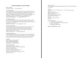 analyst programmer resume sample good resume sample analyst programmer resume example