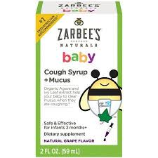 Zarbee's Cough Syrup and Mucus Reducer - <b>Baby</b> - 2 oz