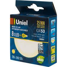 <b>Лампа</b> светодиодная <b>Uniel</b> GX53 8 Вт 670 Лм свет тёплый белый ...