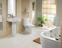 awesome white marble bathtub and sink with wooden cabinet also simple rug combine with nice flower awesome bathroom design nice pendant