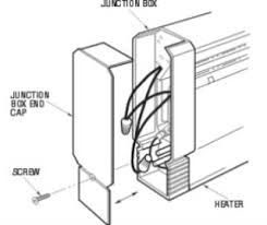 how to wire your baseboard heater baseboard heater end cap