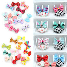 <b>10pcs</b>/<b>lot Mixed</b> Bow Kids Children Girls ribbon Hair Clip Duckbill ...