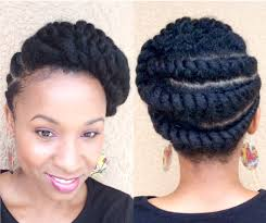 Natural Twist Hairstyles Natural Hair Flattwist Updo Protectivestyle Youtube