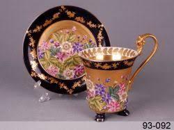 <b>Чашка с блюдцем Lefard</b> полевые цветы синяя 300мл 2пр ...