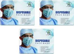 TFS <b>DISPOSABLE 3</b> PLY SURGICAL FACE <b>MASK</b> WITH EAR ...