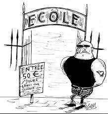 """Résultat de recherche d'images pour """"caricatures école et argent"""""""