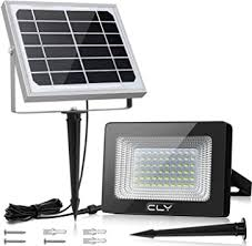CLY 60 LED <b>Solar</b> Lights, <b>Outdoor</b> Security Floodlight, 300 Lumen ...