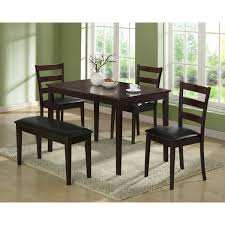 Five Piece Dining Room Sets Monarch Griffith 5 Piece Dining Table Set With Bench Jetcom