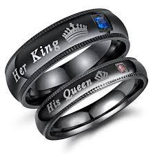 """""""<b>His Queen</b>"""" or """"<b>Her King</b>"""", <b>His</b> or Her Matching Wedding Band"""